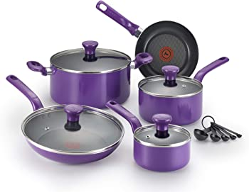 T-fal C511SE Excite Nonstick Thermo-Spot Dishwasher Safe Oven Safe PFOA Free 14-Piece Cookware Set
