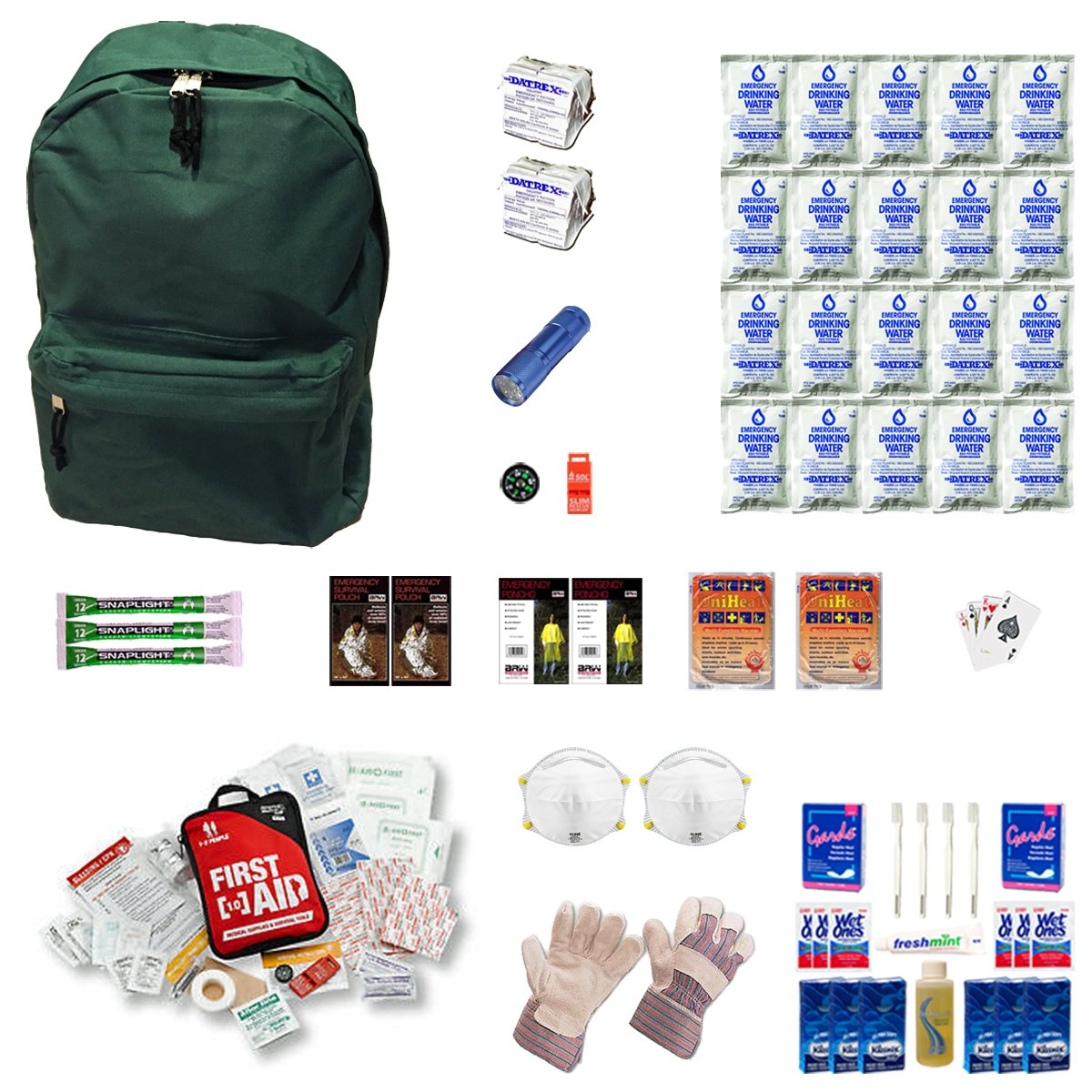 Emergency Survival Kit For Two People by Zippmo Survival Gear (Image #1)