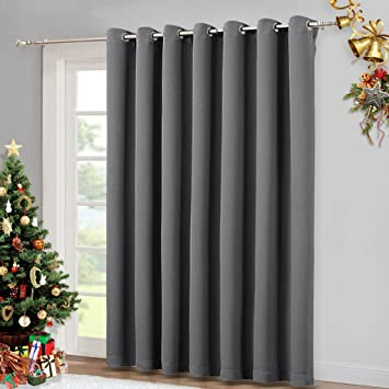 Amazon Nicetown Patio Sliding Door Curtain Wide Blackout
