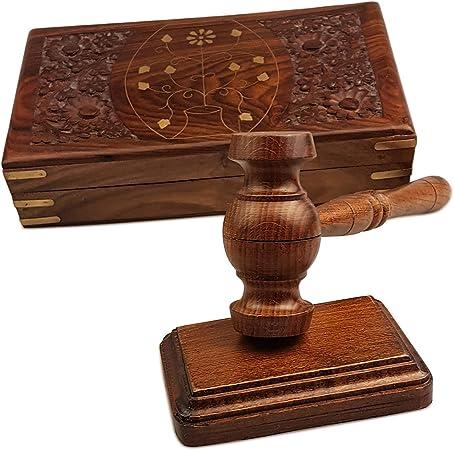 Juego de caja de mazo de madera de primera calidad Tallado a mano - Juego de caja