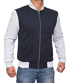 Decrum Black and Grey Letterman Jacket Men - High School Baseball Varsity Jacket Mens