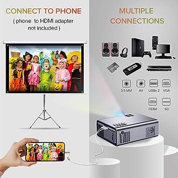 Mini Proyector, XIAOYA T8 Proyector LED: Amazon.es: Electrónica