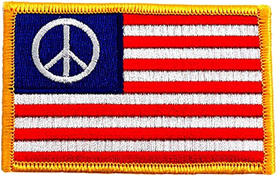 American Flag Hippie Peace Sign Symbol Hipster Jacket Backpack DIY Patch 764T