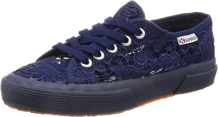 Superga 2750 Macramew Sneakers Damen Blau (Spitze)