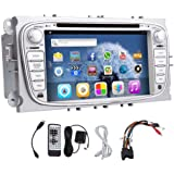 Android 5.1 GPS 3D capacitif Multi-Touch Screen Electronics Autoradio Pour Stereo Ford Focus 2 / Mondeo / S-max R¨¦cepteur radio Auto DVD CD VCD voiture pour Ford Focus Autoradio Vid¨¦o PC Audio BT Audio RDS Dans Dash commande Volant logo
