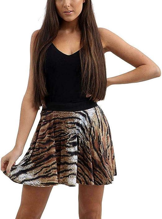 Hi Fashionz Mujer Tigre Serpiente Vestido sobre Rodilla Ajustado ...