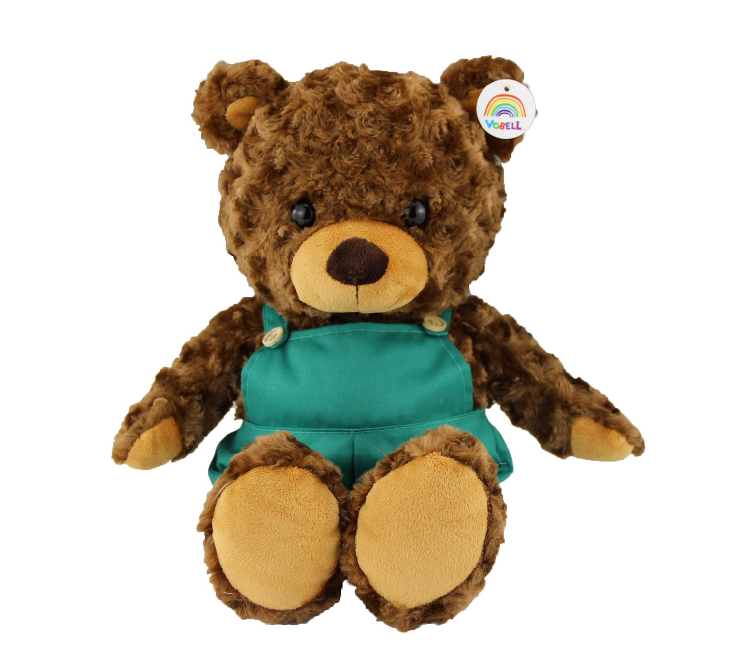 Vobell Overalls Teddy Bear Plush Stuffed Animal Toy with Cute Pans 11-inch