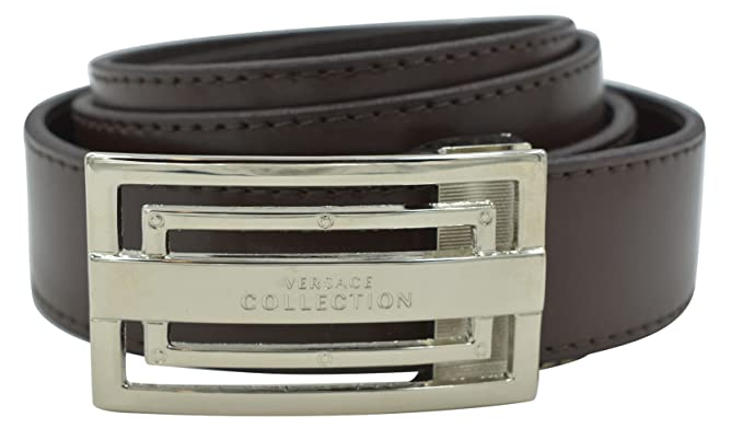 Amazon.com  Versace Collection Men s Leather Adjustable Belt (42US ... 63f3fc52bc1