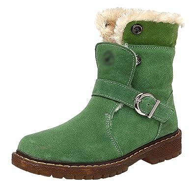 6b44ce4f803ac Yiiquan Chaussures Mode Garçons Filles Bottes d hiver pour Tout-Petits  Bottes de Neige épaisses Chaussures en PU Cuir  Amazon.fr  Chaussures et  Sacs