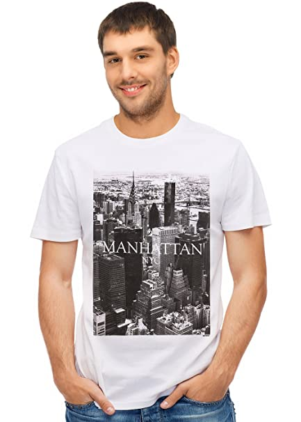 7dc071fa385 Amazon.com: Retreez New York City NYC Manhattan Graphic Printed T-Shirt Tee:  Clothing