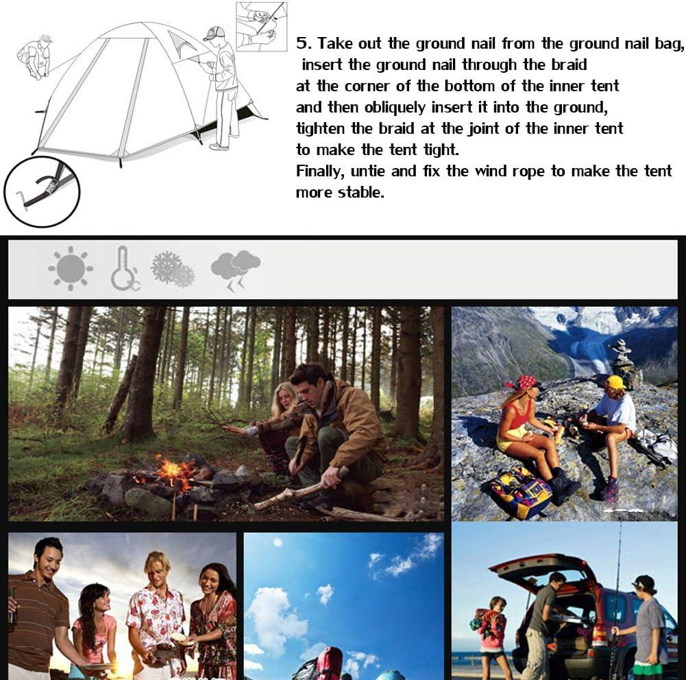 HAOYF Tienda De Campaña Impermeable 2 Personas Pesca Caza Tienda De Doble Capa 82.6