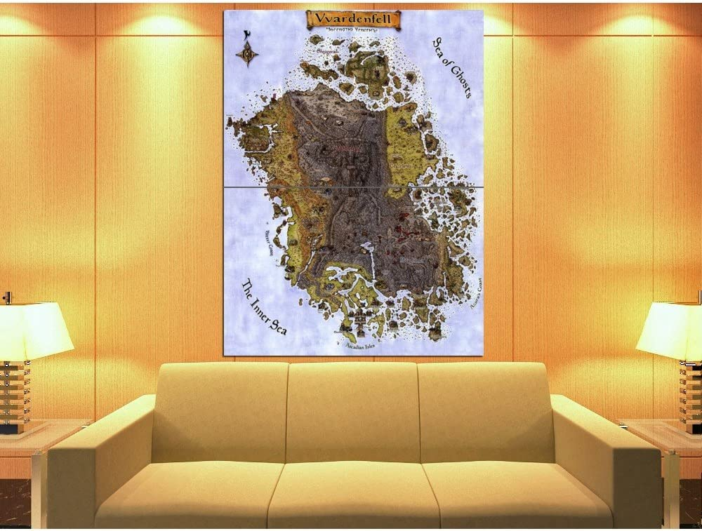 "Vvardenfell TES 3 Morrowind Map Poster 24x32/""//60x80cm Decor Custom Silk Print"