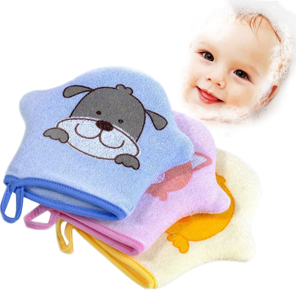 Pro Baby Bad Handschuh Schaumstoff Schwamm Dusche Pinsel Animal Modeling Reiben Handtuch Ball für Baby Kinder Scrub & Wash Per