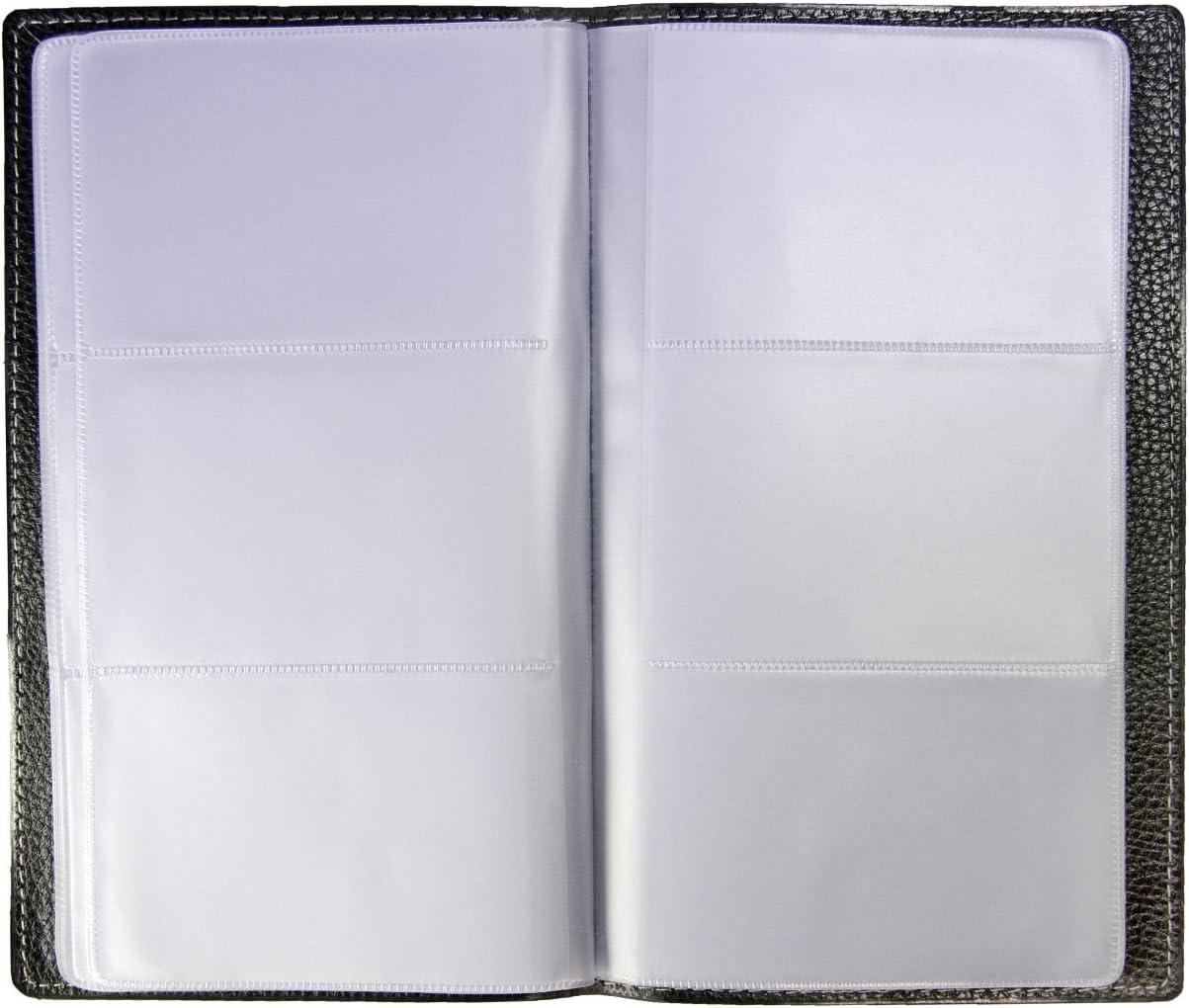Import Allemagne Idena 567042 Porte-cartes de visite Pour 144 cartes 11 x 19 cm Noir