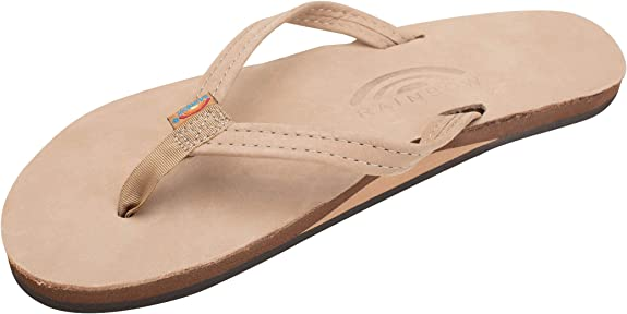 Rainbow Sandals Women's Single Layer Leather Sandal Narrow Strap
