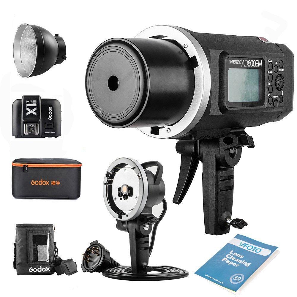 Godox Witstro AD600BM Bowens Mount Manual Versión Aire Libre Flash+ X1T-N transmisor+ Ad-h600b +CB-09 para Nikon D800 D700 D7100 D7000 D5200 D5100 D5000 D300 D300S D3200