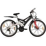 Kids Mountain Bike 24 Inch 4 Masters 21 Gear Black KS Cycling
