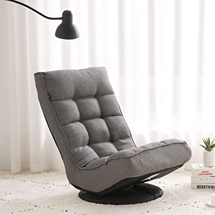 Stupendous Altrobene Ergonomic Floor Gaming Chair Lazy Sofa Sleeper High Back 360 Degree Swivel Soft Padded Grey Customarchery Wood Chair Design Ideas Customarcherynet
