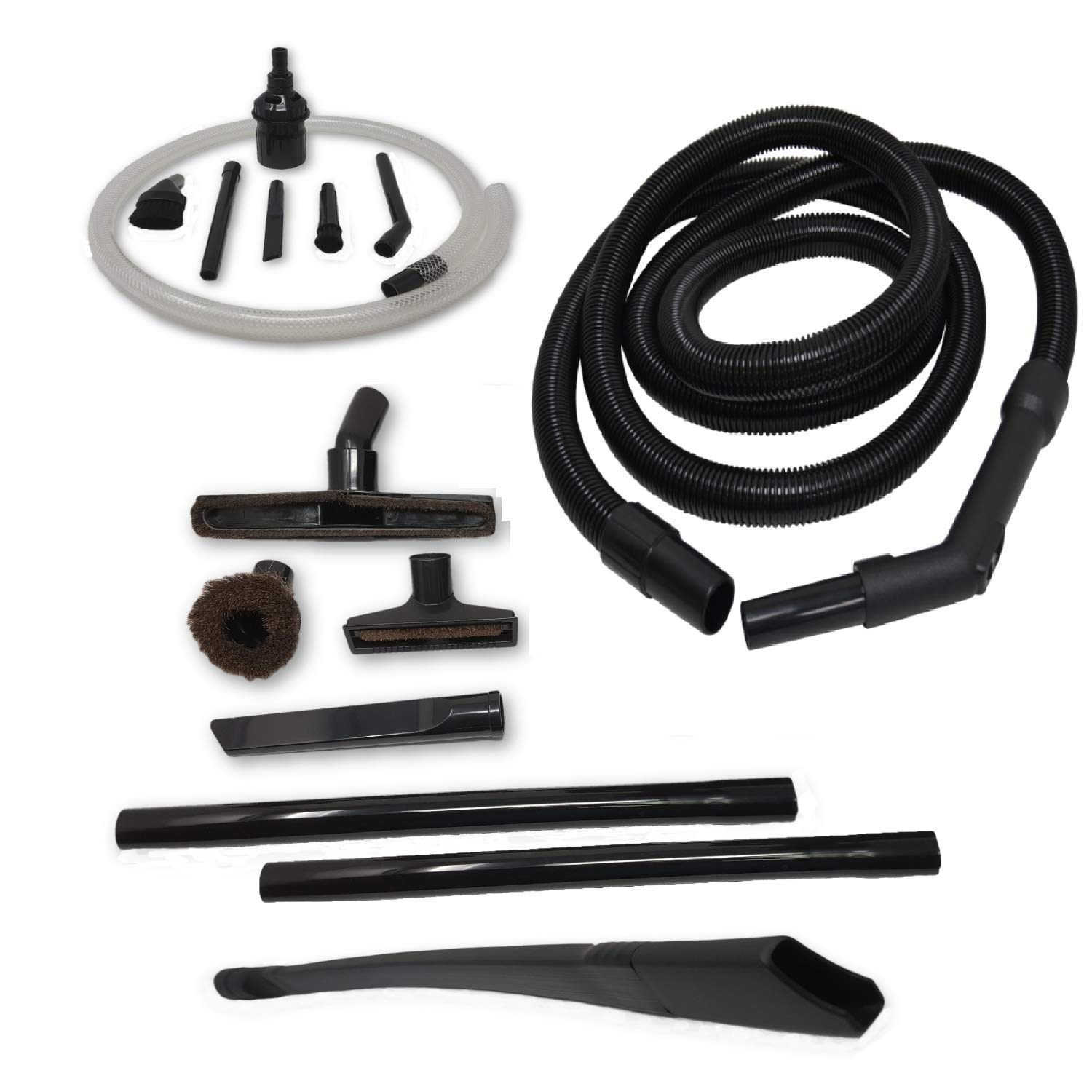 "ZVac Compatible Attachment Kit Replacement for Shark Navigator Lift Away Vacuums. Premium Generic Hose + Accessories Kit + Floor Brush + 24"" Flexible Crevice Tools + Micro Vacuum Attachments + More"