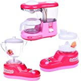 FUN LITTLE TOYS Kitchen Toy Appliances for Girls, Juice Maker, Blender, Coffee Maker, Play Kitchen Accessories for Toddlers and Kids, 3 + Year Old Girl Gifts