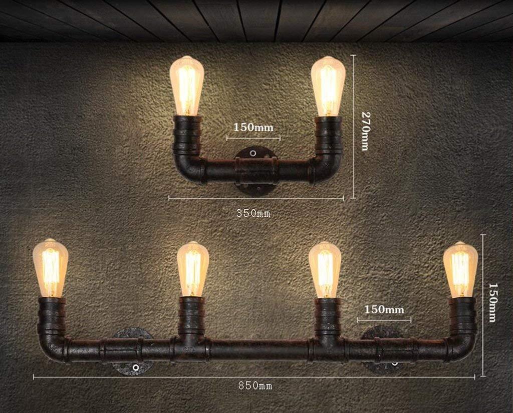 XQY Hotel Cafe Wohnzimmer Bar Wandleuchte, Wanddekoration Lampen, Industrielle Wandleuchte Retro Wandleuchte Dekorative Wandleuchte Kreative Eisen Restaurant Bar Wasserleitung Wandleucht