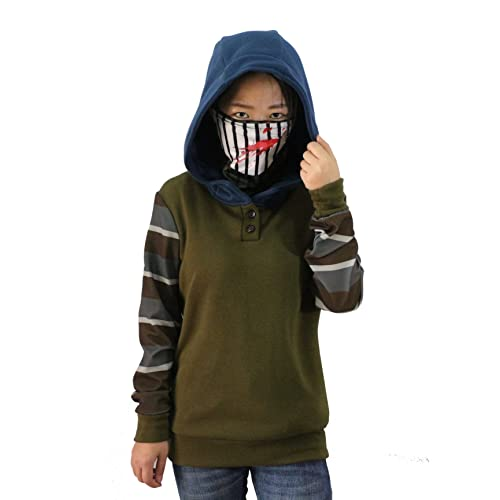 Cosplay Creepy Ticci Toby Womens Hoodie Pullover Thicken Sweatshirt