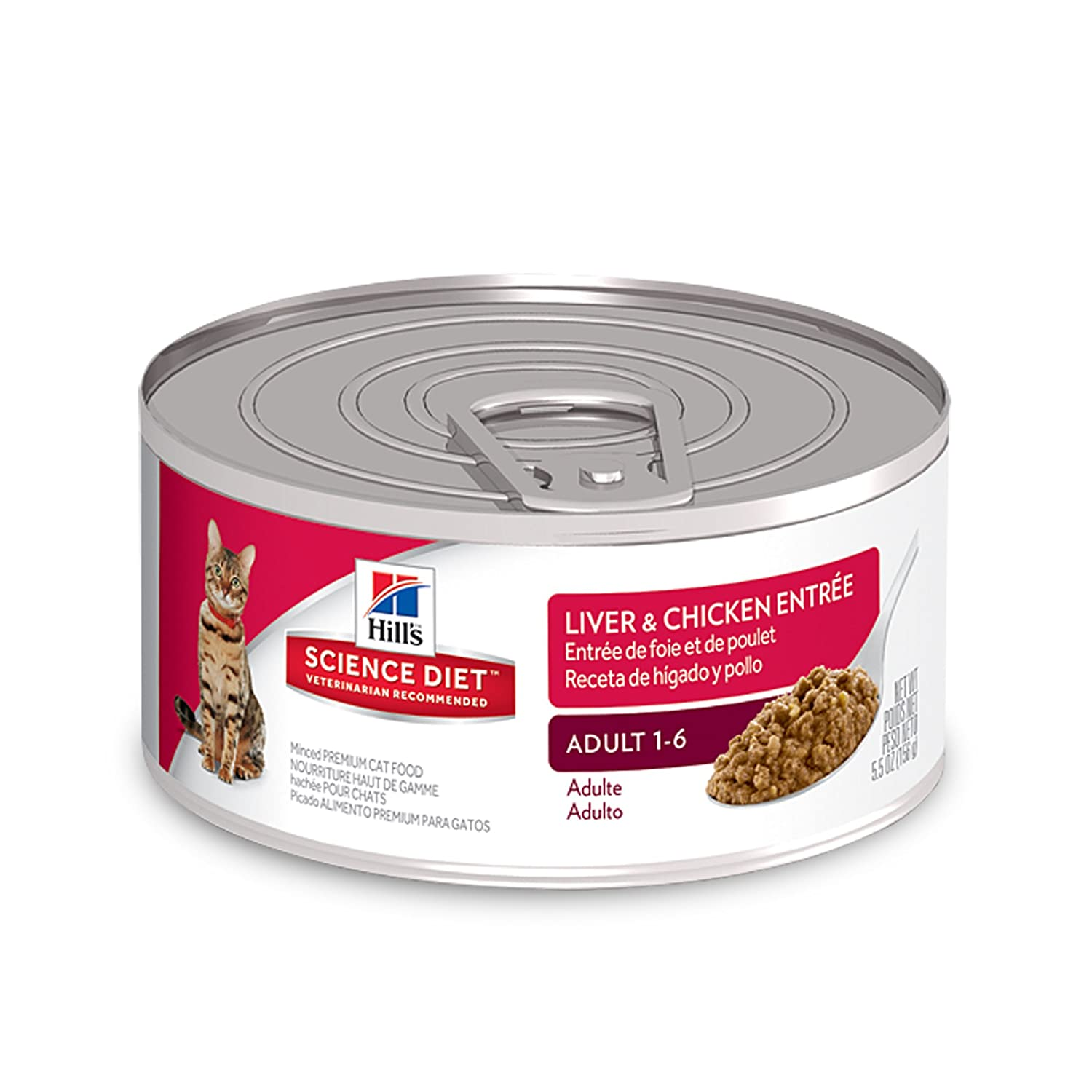 Amazon.com : HillS Science Diet Adult Wet Cat Food, Liver & Chicken Entrée Canned Cat Food, 2.9 Oz, 24 Pack : Pet Supplies