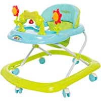 Baybee Bonnie Baby Walker Cum Rocker | Music & Light Function | Easy to Fold, Fun Toys & Activities for Baby (Green)