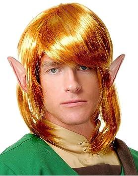Guerrero Elfo peluca Enlace La leyenda de Zelda adultos traje de accesorios Rubio: Amazon.es: Hogar