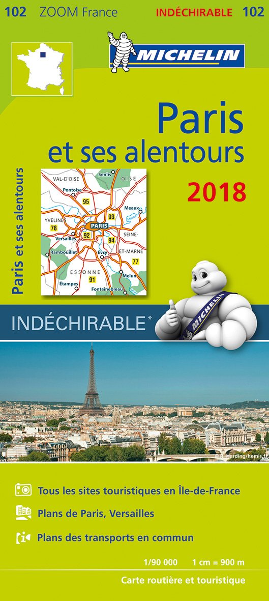 Carte Paris et ses alentours Michelin 2018 Carte – 1 janvier 2018 2067228846 Karten / Stadtpläne / Europa Autokaarten Cartes France