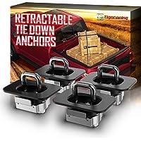 Tigeracing Tie Down Anchors Retractable Truck Bed Top Side D Ring Compatible 1988-2013 Silverado 1500 2500 & Sierra 1500…