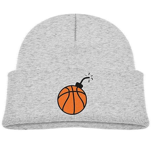 Amazon.com  Kocvbng I Bomb Basketball Beanie Cap Skull Hats Baby ... 7d6b4a0590c