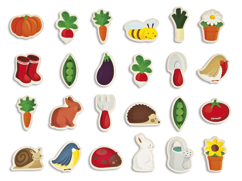 Janod J08157 Wooden Magnets, Farm, 24 Pieces