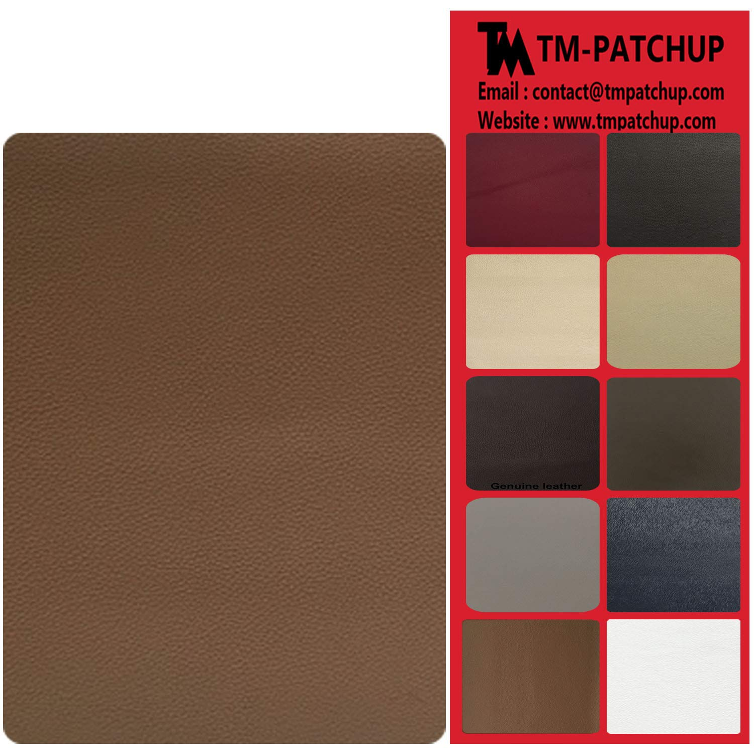 Leather and Vinyl Repair Patch by TMgroup, Genuine Faux Leather Repair Patch, Peel and Stick for Couch, Sofas, car Seats, Hand Bags,Furniture, Jackets, Large Size 8 x 11 inches (Beige)