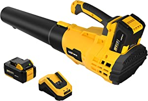 AchiForce Cordless Leaf Blower, Variable Speed Leaf Blower with 20 V 4.0 Ah Rechargeable Battery and Charger, for Garage, Garden and Yard, Leaves & Dust Cleaning