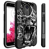 LG K20| K 20 Plus Lion Case| LG Grace | K10 (2017) Case | LG V5 by Untouchble [Traveler Series] Shockproof Hybrid 2 Layer Case with Kickstand Case - Roaring Lion