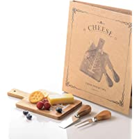 Mini Small Cheese Board and Knife Set , Charcuterie Platter & Serving Tray for Wine, Crackers, Brie and Meat For Home…