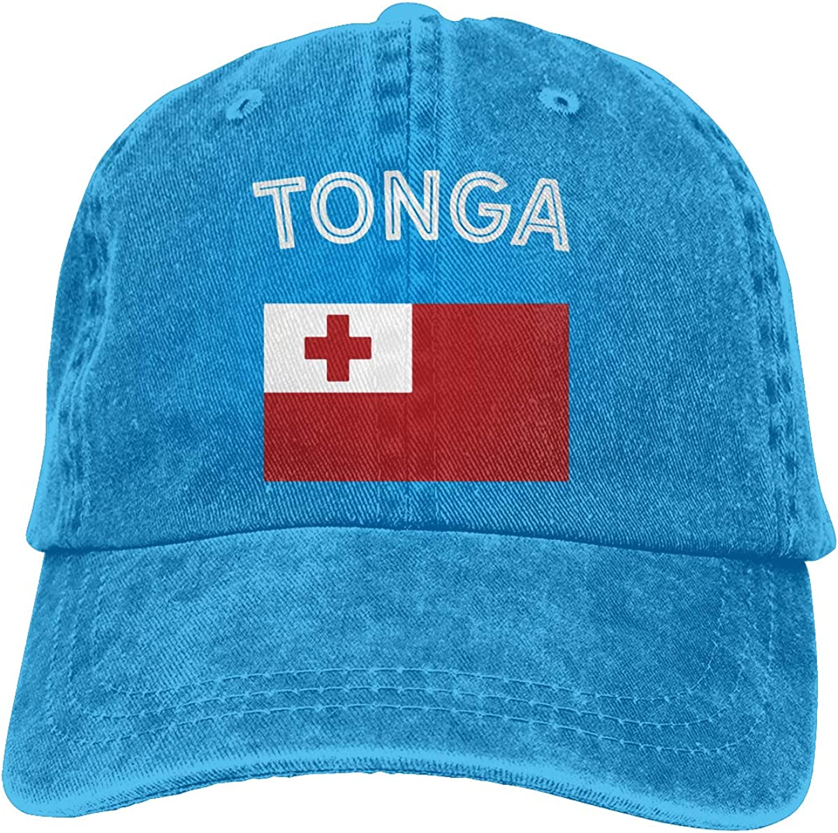 Tonga Flag Unisex Custom Jeans Sun Hat Adjustable Baseball Cap