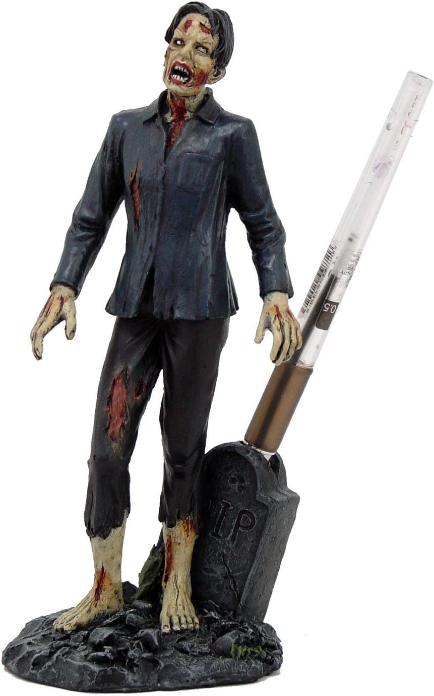 PTC Pacific Giftware Zombie Walking Dead Undead Desk Pen Holder Statue Figurine (9428)