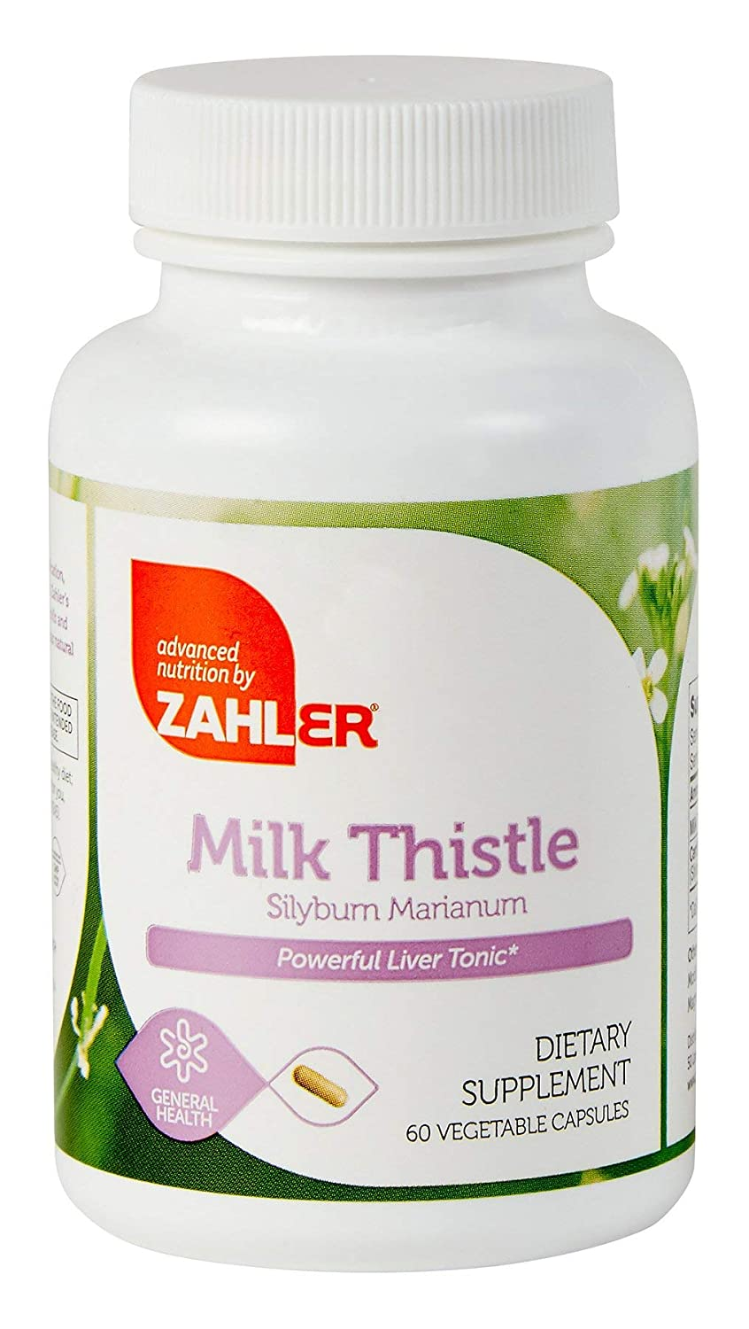 Amazon.com: Zahler Milk Thistle, LIVER Cleanse and DETOX Support Supplement, All Natural and Potent LIVER Tonic Formula with 80% SILYMARIN, Certified Kosher ...