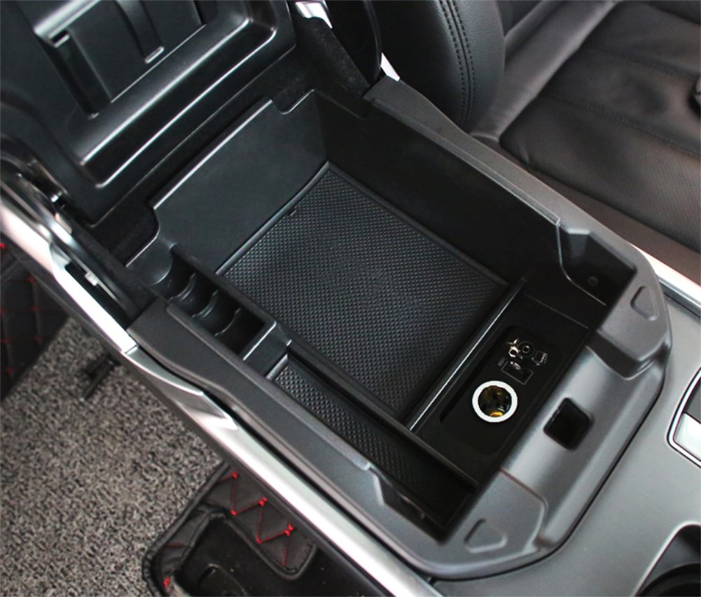 Vesul Armrest Secondary Storage Box Glove Pallet Center Console Tray Fits on Lander Rover Range Rover Sport 2014 2015 2016 2017 Without a Refrigerated Console