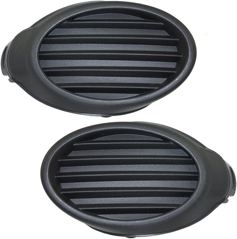 Chrome Front Bumper Hole Fog Lamp Light Cover Left /& Right For Ford Focus 12-14