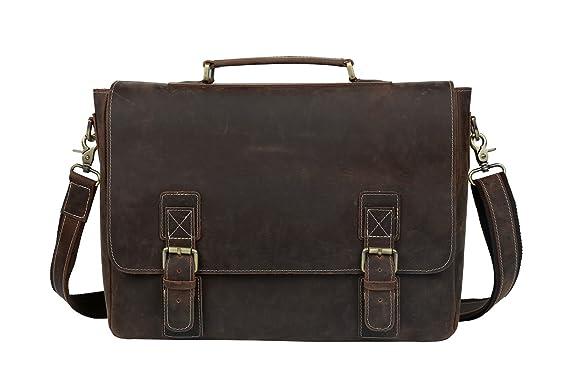 Men/'s Genuine Leather Handbag Briefcase Tote Laptop Shoulder Bag Messenger Bags