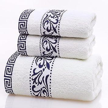 USDLIN Juego de Toallas de baño de algodón 3 Piezas: Super Grande Premium Adulto Hogar Super Suave Muy Absorbente Personalizado ...