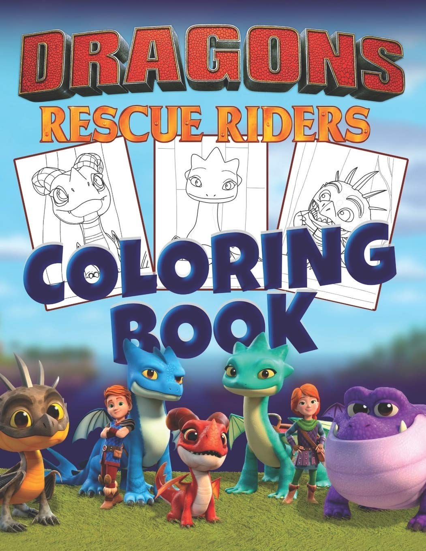 Dragons Rescue Riders Coloring Book 30 Illustrations For Kids Amazon De Books Banana Fremdsprachige Bucher