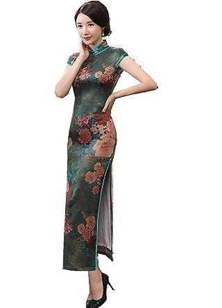 e9de5a3674 Amazon.com  Shanghai Story Short Long China Qipao Chinese Traditional Dress  Cheongsam  Clothing