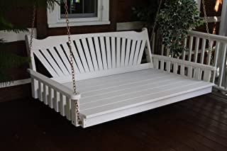 product image for DutchCrafters Amish Pine Wood Fanback Swing Bed (Oak, 6')