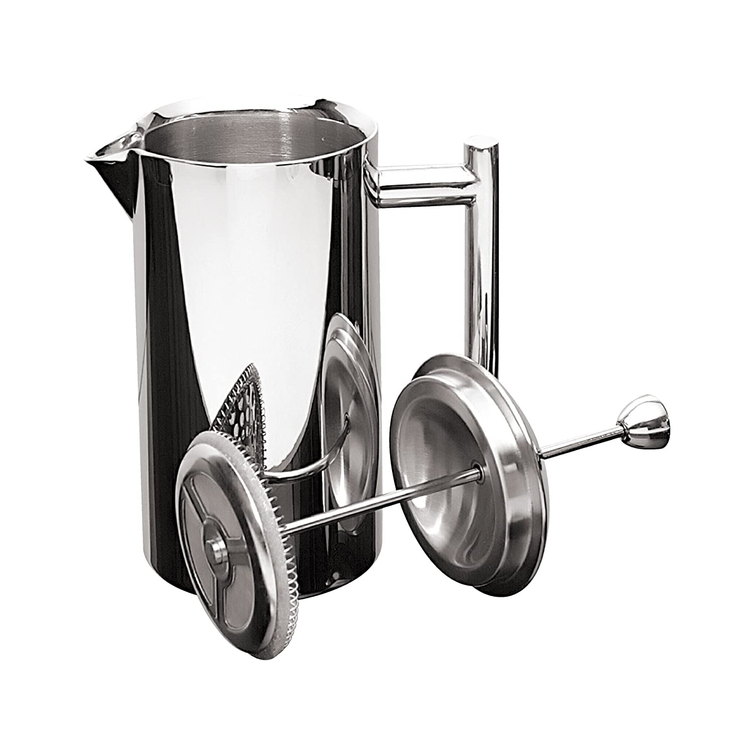 Frieling USA Double Wall Stainless Steel French Press Coffee Maker with Patented Dual Screen, 36-oz