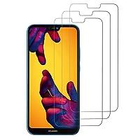 Amzuun Huawei P20 Lite Vetro Temperato, [3xPack] [2.5D Full Screen Glass] 9H 2.5D Facile da Installare Pellicola Protettiva