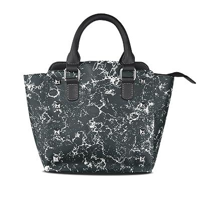 00f080f2f50d Amazon.com  Black Marble Leather Handbags Purses Shoulder Tote Satchel Bags  Womens  Shoes